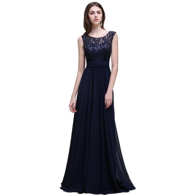 AUDRINA | A-line Scoop Chiffon Prom Dress With Lace_4