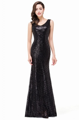 EVERLEIGH | Mermaid V-neck Sleeveless Floor-Length Sequins Prom Dresses_5