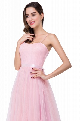 ELLIS | A-line Sweetheart Floor-length Pink Tulle Ruffles Bridesmaid Dresses_12