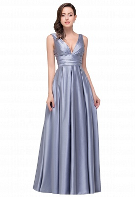 Sexy Evening Gowns Deep V Neck Beaded Pageant Dresses_2