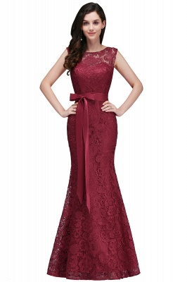 EDEN | Mermaid Sleeveless Floor-length Lace Prom Dresses with Ribbon Sash_2