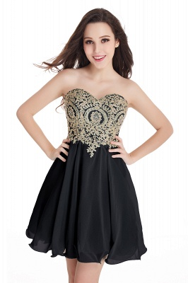 CYNTHIA | A-Line Strapless Short Chiffon Prom Dresses with Beadings_7