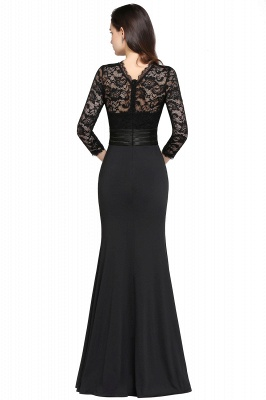 ARIANNA | Sheath High Neck Black Elegant Evening Dresses with Lace_7