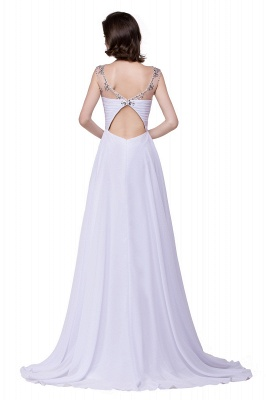 AINSLEY | A-line Sweetheart Chiffon Evening Dress With  Crystal_5