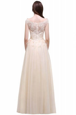 AUBREE | A-line Floor-Length Tulle Prom Dress With Lace Appliques_9