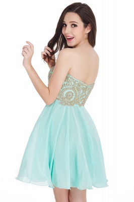 CYNTHIA | A-Line Strapless Short Chiffon Prom Dresses with Beadings_9