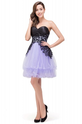 A-line Bowknot-Sash Lace-Up-Back Homecoming Dresses_8