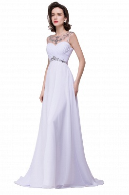 AINSLEY | A-line Sweetheart Chiffon Evening Dress With  Crystal_8