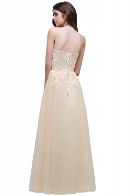 AUBRIANNA | Aline Floor Length Tulle Prom Dress With Appliques_3