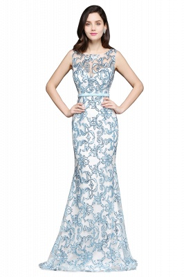 Mermaid Sweep Train Lace Evening Dresses_3