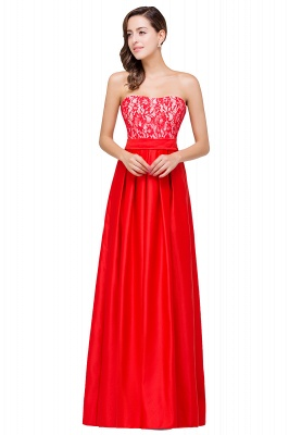 EVERLY   A-line Sleeveless Sweetheart Floor-Length Red Chiffon Prom Dresses_2