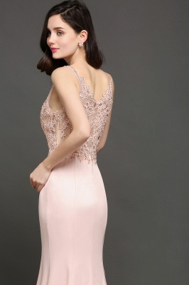 ALLYSON | Mermaid V-Neck Pearl Pink Prom Dresses with Beads_4