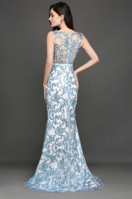 Mermaid Sweep Train Lace Evening Dresses_8