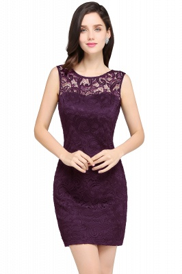 ARYA | Sheath Scoop Black Lace Homecoming Dresses_2
