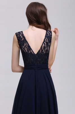 AUDRINA | A-line Scoop Chiffon Prom Dress With Lace_9