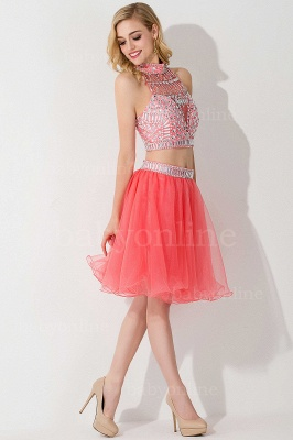 ELISE | Two-piece Halter Sleeveless Short Tulle Prom Dresses with Crystal Beads_16