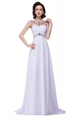 AINSLEY | A-line Sweetheart Chiffon Evening Dress With  Crystal_6