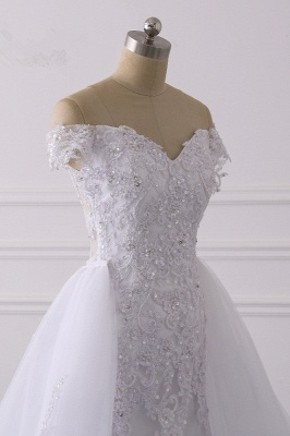 Off-the-Shoulder Sleeveless Tulle Lace Wedding Dresses_6