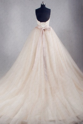Ball Gown Strapless Sweetheart Tulle Wedding Dresses_2