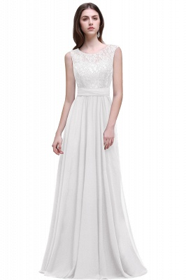 AUDRINA | A-line Scoop Chiffon Prom Dress With Lace_1