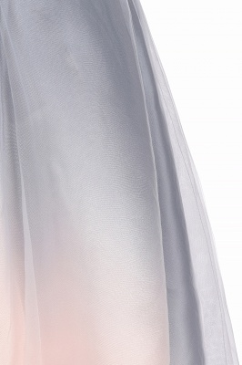 V-neck Sleeveless Homecoming Dress Satin Tulle Cocktail Dress On sale_14