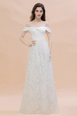 Chic A-Line Off-Shoulder Lace Long Evening Dress On Sale