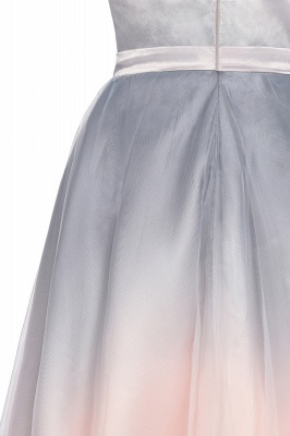 V-neck Sleeveless Homecoming Dress Satin Tulle Cocktail Dress On sale_13