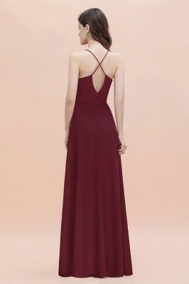 Straps Bateau A-line Sequins Evening Maxi Dress Elegant Chiffon Prom Dress_5