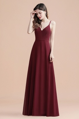 Elegant V-Neck Chiffon Evening Prom Dress for Women Straps Formal Maxi Dress_4