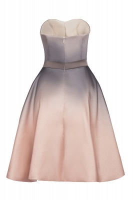 Strapless Short Cocktail Dress Satin Tulle Homecoming Dress_13