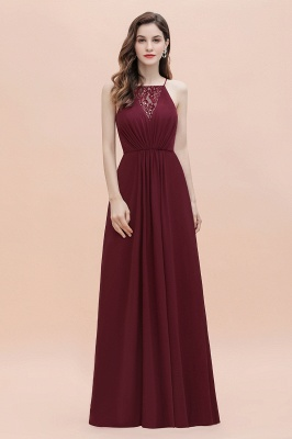 Straps Bateau A-line Sequins Evening Maxi Dress Elegant Chiffon Prom Dress_4