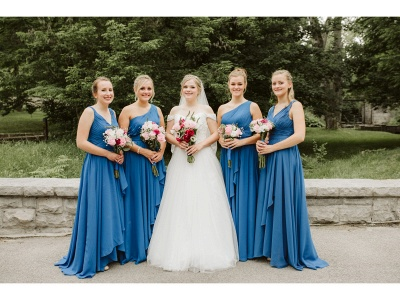 A-Line Chiffon One Shoulder Ruched Bridesmaid Dresses_4