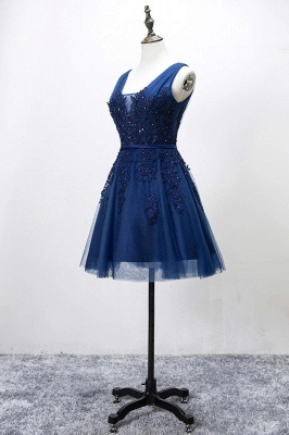 ADDILYNN | A-line Knee-length Tulle Prom Dress with Appliques_12