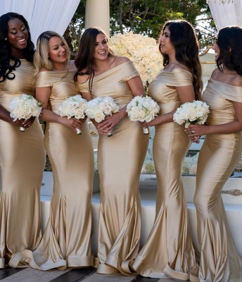 Mermaid Long Off-the-Shoulder Bridesmaid Gowns_2