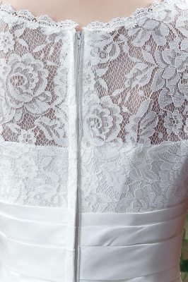 Cheap A Line Beaded Sleeveless Lace Wedding Gowns with Button_5